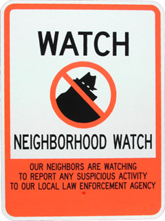 Old Neighborhood Watch Sign
